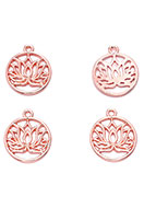 www.sayila.com - Metal pendants round with lotus 22,5x19mm - D28310