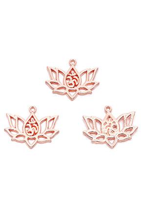 www.sayila.nl - Metalen hangers lotus met Ohm teken 20x16,5mm