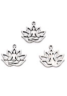 www.sayila.com - Metal pendants lotus with Buddha 18x17mm - D28334