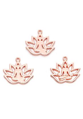 www.sayila.com - Metal pendants lotus with Buddha 18x17mm