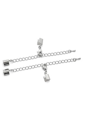 www.sayila.com - Metal extension chain 9cm with clips 11x6mm and clasps