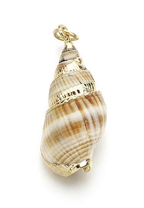 www.sayila.com - Shell pendant with metal eye 25-35x9-15mm