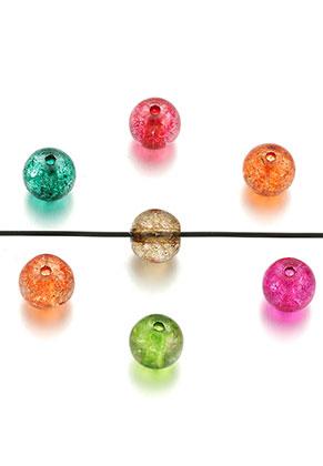 www.sayila.nl - Glaskralen rond crackle 4mm