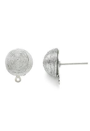 www.sayila.fr - Boucles d'oreilles entouré avec fil, avec oeil 19x15,5mm (boule 12,5mm)