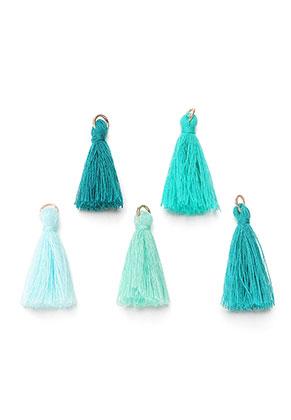 www.sayila.com - Mix textile tassels with jump ring 30x10mm