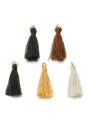 www.sayila.es - Mezcla borlas de textil con anillo 30x10mm