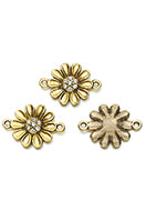 www.sayila.co.uk - Metal connectors flower with strass 23,5x17mm - D28536