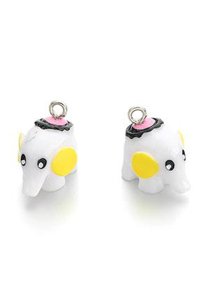 www.sayila.com - Synthetic pendants/charms elephant 19x15x13mm
