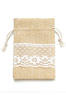 www.sayila.com - Textile gift bag with lace 10,5x8cm - D28558