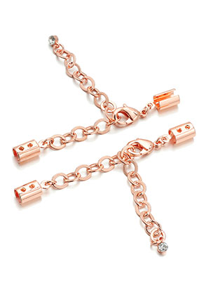 www.sayila.com - Metal extension chain 4-10cm with clips 11x5mm