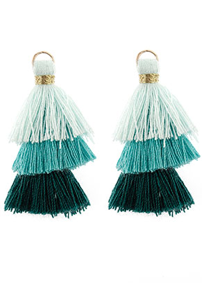www.sayila.es - Colgantes de textil con borlas 35x20mm