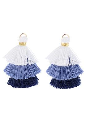 www.sayila.nl - Stoffen hangers met kwastjes 35x20mm