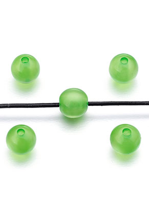 www.sayila-perlen.de - Kunststoffperlen cateye rund 8x7,5mm