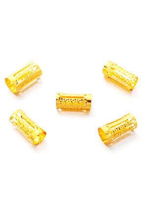 www.sayila.es - Abalorios de metal filigrana tubos 15x8mm (± 25 pzs.)