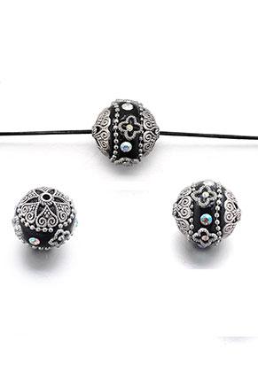 www.sayila.com - Polymer clay Kashmiri bead 20-21x18-19mm
