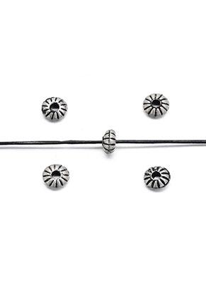 www.sayila-perlen.de - Metal Look Perlen Rondelle 8x4mm