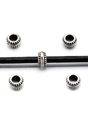 www.sayila-perlen.de - Metal Look Perlen Rondelle 7x4,5mm