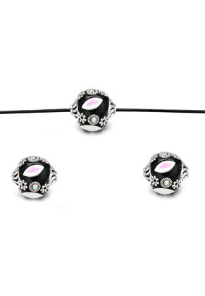 www.sayila.com - Polymer clay Kashmiri bead 17x16mm