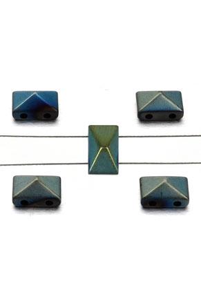 www.sayila.es - Abalorios de piedras naturales con 2 huecos Hematite 8x5x4mm