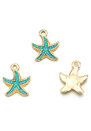 www.sayila.com - Metal pendants/charms starfish 17x14mm - D28971