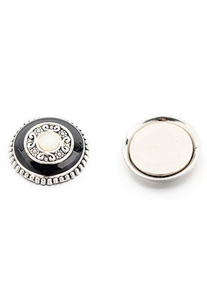 www.sayila.fr - Broche magnétique avec strass ronde 24x11mm