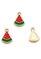 www.sayila.com - Metal pendants watermelon 16x11,5mm - D29095