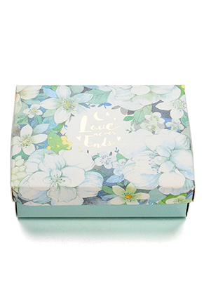 www.sayila.fr - Boîte cadeaux en carton avec fleurs 14x10,5x4cm
