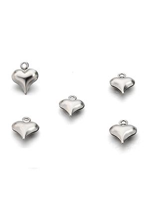 www.sayila.es - Colgantes/dijes de acero inoxidable corazón 8,5x6,5mm