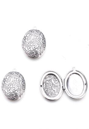 www.sayila.es - Colgante de metal medallón oval 33x23,5mm