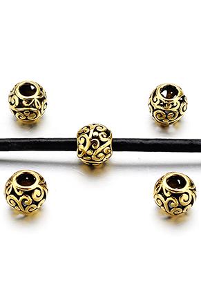 www.sayila.be - Groot-gat-style metalen kralen 10,5x9mm