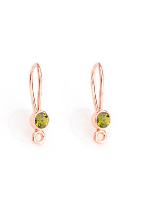 www.sayila.com - Brass ear wires with strass 21x5mm