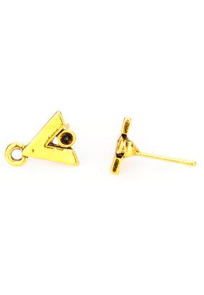 www.sayila.nl - Metalen oorstekers v-vorm met oogje 14x12,5x10mm
