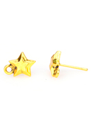 www.sayila.com - Metal ear studs star with eye 14x12x9,5mm - D29383