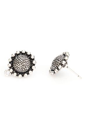 www.sayila.nl - Metalen oorstekers rond met oogje 18x15x14mm
