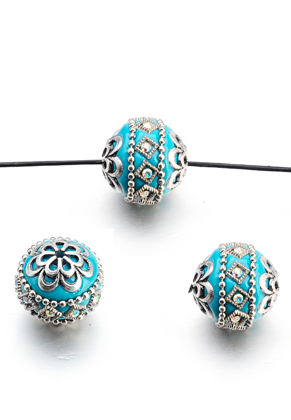 www.sayila-perlen.de - Polymer Ton Kashmiri Perle 20-21x18-19mm