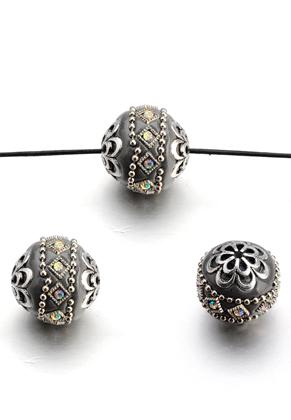 www.sayila.es - Abalorio Kashmiri de barro arcilla polimérica 20-21x18-19mm