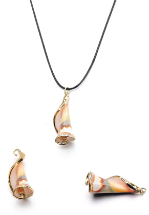 www.sayila.com - Shell pendant with metal eye 28-47x10-16mm