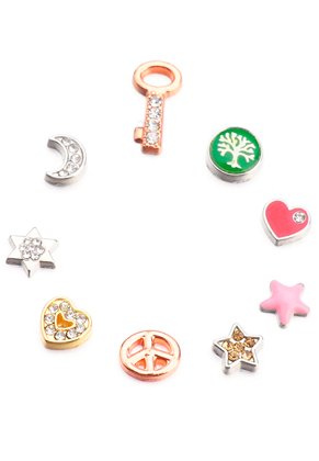 www.sayila.fr - Mélange de Floating Charms en métal 7-15x5-8mm