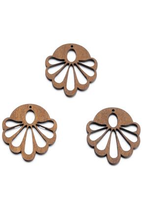 www.sayila.fr - Pendentifs en bois fleur 51x44mm