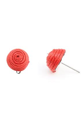 www.sayila.nl - Oorstekers omwikkeld met draad, met oogje 19x16mm (bolletje 13mm)