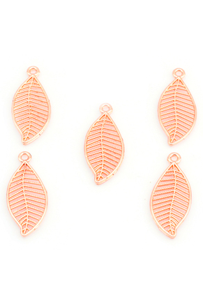 www.sayila.com - Metal pendants feather/leaf 26x11mm