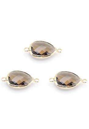 www.sayila.nl - Metalen tussenzetsel met glas druppel 26x14mm