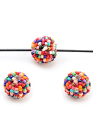 www.sayila.com - Synthetic beads round with seed beads 19mm - D29897