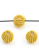 www.sayila.com - Synthetic beads round with seed beads 19mm - D29904