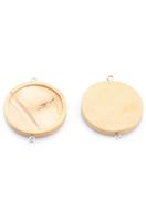 www.sayila.fr - Entre-deux en bois ronde 44x35mm avec cadre pour 30mm cabochon - D29928