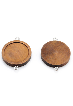 www.sayila.com - Wooden connectors round 40x30mm with setting for 25mm flatback