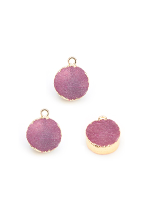 www.sayila.com - Natural stone pendant Crystal round 19x15mm