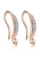 www.sayila.com - Metal ear wires with strass 16x9mm - D29968