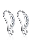www.sayila.com - Metal ear wires with strass 16x9mm - D29969