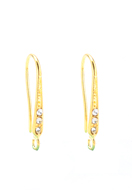 www.sayila.com - Metal ear wires with strass 22x7mm - D29974